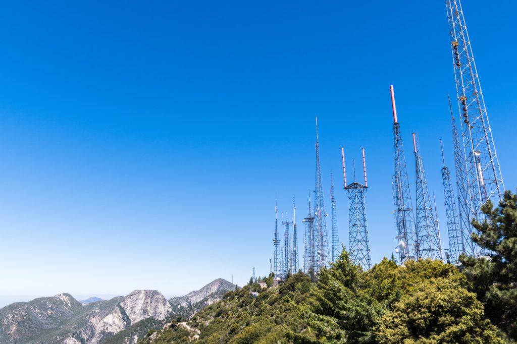 Telecommunication Radio antenna Towers, Mount Wilson, south California