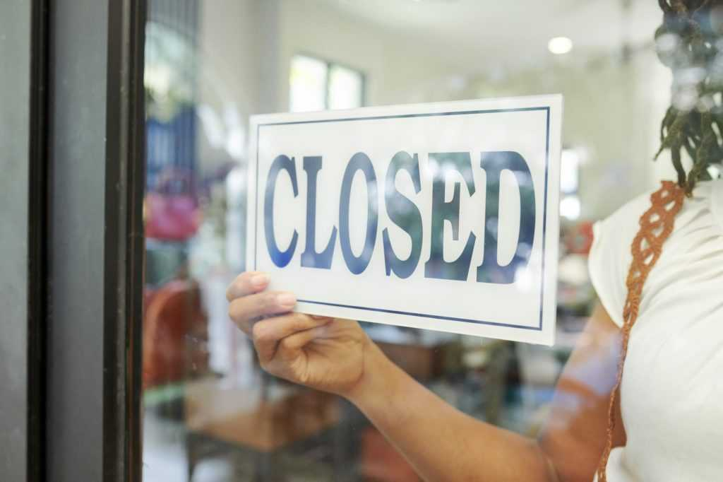 The store closed